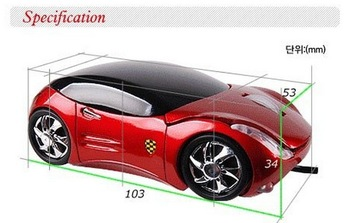 Wholesale 2pcs/LOTsale VIP PRICE! Car Shape USB 3D Optical Mouse Mice For PC/Laptop free shipping