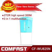 Free shipping 802.11g/b/n 300Mbps wireless wifi  adapter Comfast WU825N
