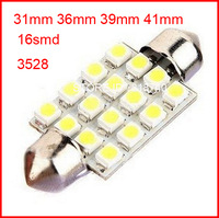 3528/1210 16 SMD LED 16smd 16led Car Dome Festoon Interior Light Bulbs 36mm 39mm 41mm 31mm Auto Car Festoon LED Roof Car Light,n