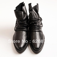 Free shipping fashion punk leather men's boots man's motorcycle boots