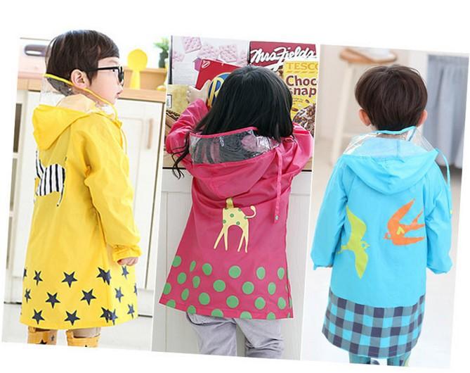 Promotion 5PCS/Lot Cartoon Animal-shaped Waterproof Child Rainwear / Kids Rainsuit / Baby Poncho / Children's Raincoat(China (Mainland))