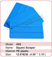 Free Shipping A03 pp material flexible car blue film squeegee car wrap tool plastic squeegee vinyl squeegees scraper tools