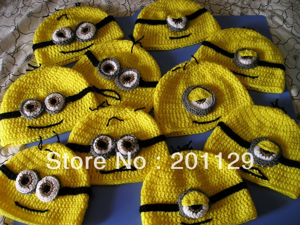 free shipping: Minion hat crochet pattern despicable me ...