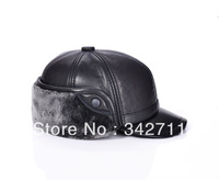 4809 Men's Super Fluff sheep Piga thick winter models thick ear hat leather hat baseball cap