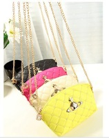 new candy color restoring ancient ways Saturn  lattice mini bag lady one shoulder inclined across the female