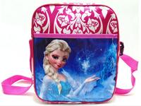 Retail Frozen Peppa Pig Strawstring Bag Girl Backpack Lunch Bag Children School Bag Cartoon KIDS Gift Bag