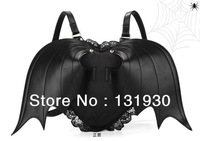Halloween dressing unique backpacks super cool bat patten bag with lace special backpack