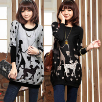 New 2014 autumn dress plus size clothing S-XXL casual dress  women dress winter  and  maternity dress