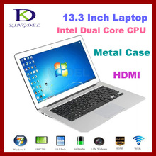 Metal case 13.3 inch Ultrabook laptop, intel celeron 1037U Dual core with 4GB RAM, 64GB SSD, Webcam,WIFI,Bluetooth, 4400Mah