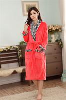 Autumn and winter sleepwear thickening flannel robe female flannel bathrobe lounge bathrobe