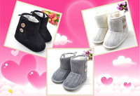 FREE SHIPPING----baby girl winter boots pretty bowknot knitted snow boots toddler warm skidproof floor boots shoes 3colors 1pair