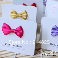Smart Wishing Cards in Multicolored Ribbons Bow of pure silk as Gift and Best wishes to Grandparents and Uncles and Aunts