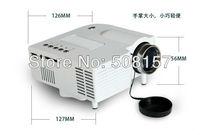 Free shipping UC28+ Mini HD projector home Cinema Theater 1080P Multimedia player Inputs AV VGA USB SD