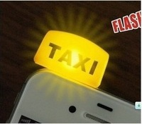 Free Shipping!Newest Design Korean fashion Style TAXI lamp  dustproof plug mobile phone pendant!