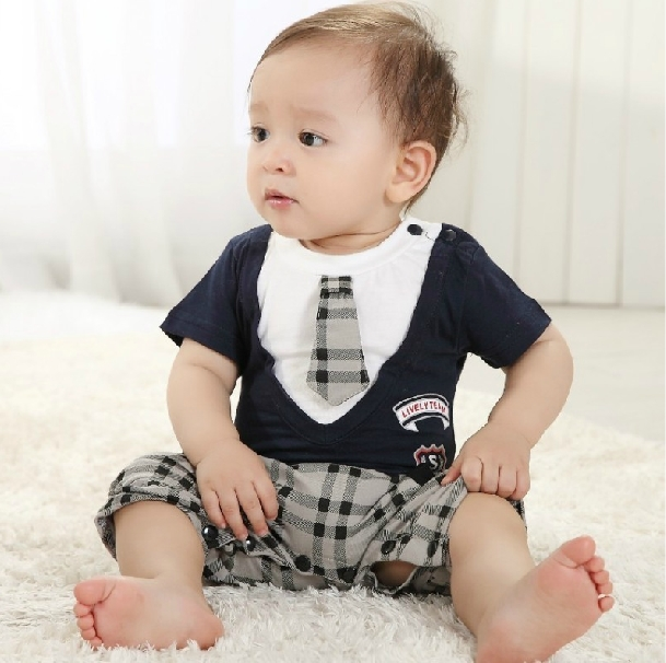 Infant Boys Designer Clothing Baby Boys Romper Gentleman