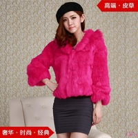 Cii 2013 new winter fur coat rex rabbit hair real shot short sleeve short outer fur