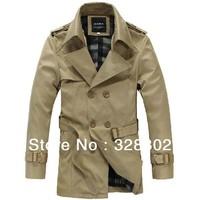 New 2014 Autumn Winter Long Trench Coat Men XXXXL Fashion Overcoat Men Keep Warm Winter Coat Men Long Winter Jacket XXXL 4XL 5XL