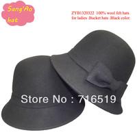 wholesale black Fashion ladies crown hats100% wool felt for dress wear in Winter ,fall ,spring ,wedding ,topee hat.festival