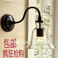 Free shipping edison bulb lamp e27 40w  Multithread rustic simple european american bedside living room wall lamp mirror light