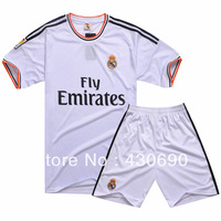 hot 13 - 14 soccer jersey set homecourt male football clothing real madrid soccer jersey free shipping