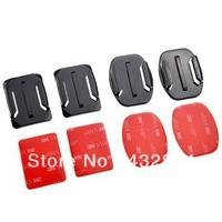 Gopro Accessories -2x Flat + 2x Curved Mounts W and 4Pcs 3M VHB Adhesive Pads for GoPro Hero 1/Hero 2/Hero 3 Cam ST-10
