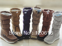Berber fleece snow boots gaotong snow boots suede fabric 5-color slip-resistant thermal Factory Outlet fast delivery to Russia