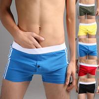 Men's underwear superbody pants free shipping male aro 100% pants cotton big boxer panties brand P9034