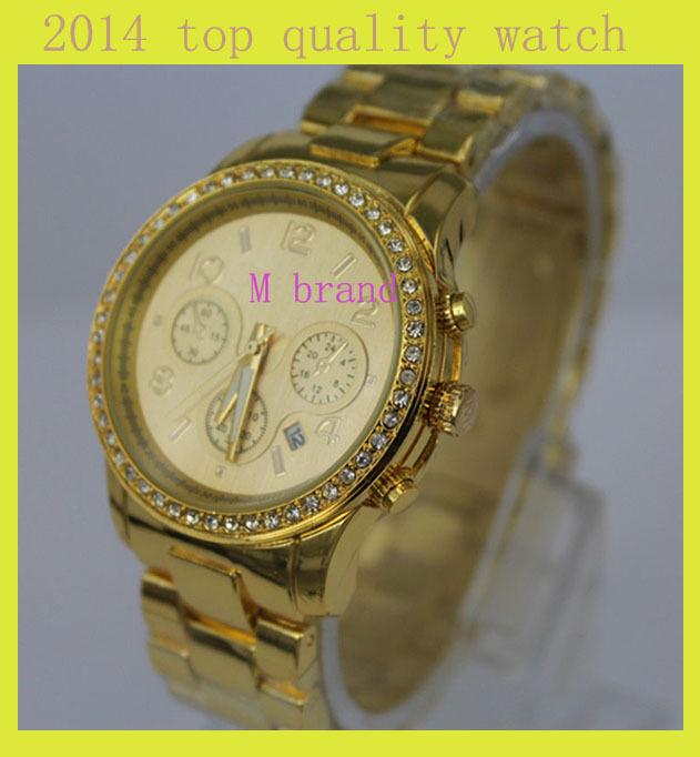 de lujo de diamantes de imitación de la moda las mujeres famoso reloj