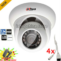 4pcs 1.3 Megapixel CMOS HD 720P ONVIF POE Dahua 1.3Mp Network IR Dome Camera IP Camera (AC Power Adapter Included) IPC-HDW2100