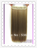 "Hot sales 1pcs hair Fashion clip in straight synthetic hair extension 18"" 20"" 22"" 24 inches mix with  BLONDE All Express"