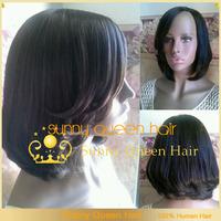 DHL/UPS free shipping unprocessed brazilian short human hair bob wigs for black women & lace front wig bleach knots