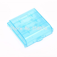 10pcs Battery Box For AA/AAA camera/DV Battery Storage Box Hard Plastic Case blue Color Free Shipping