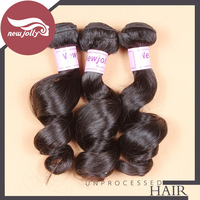 4pcs/lot, Brazilian virgin hair loose wave weft, 12''-30'' available, discount virgin hair, free shipping