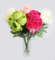 Free shipping artificial flowers 5 heads peony bouquet wedding decoration or home decoration