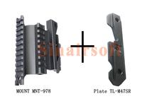 AK-47 Quick Detachable Double Rail AK Side Mount MNT-978 + AK Steel Combat Side Plate TL-M47SR
