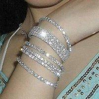 new 2014 Min Order $5 (Mix Order) Single Row Rhinstone Bracelet Tennis Anklet Bracelet Springy Bracelet