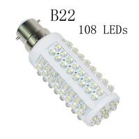 White New 108 SMD B22 Warm&Cool Corn Light Bulb 110V/220V Energy-saving