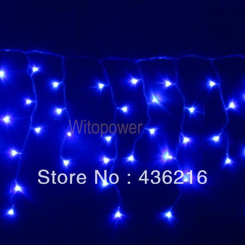 20FT 2X 10FT 100 LED Xmas icicle Blue light for Christmas wedding party garden(China (Mainland))