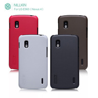 With Screen protector Nillkin Super Shield Hard Back Case For google Nexus4 LG E960 Back Cover For LG E960 Nexus4  Free Shipping