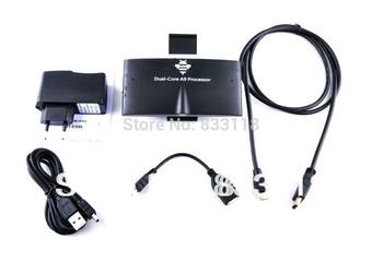 Latest MK818 5.0MP Webcam Mini PC AV Output MIC Bluetooth RJ45 Earphone OTG Port 1GB 8GB android 4.2