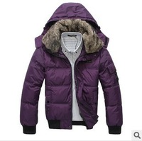 Free shipping! 2013 Fashion Brand Men's Winter Overcoat Outwear Down&Parkas NYLU803 Wholesale