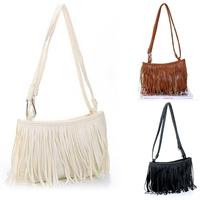 Latest New 2014 Women Fringe Bag & Small Pu Leather Messenger Bag & Long Tassel Shoulder Bag High Quality Purse Handbags Fashion