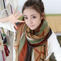Min order is 10usd ( Mix order ) Korea elegant Shawl scarf women Scarves Shawl Chiffon free shipping ! ---cRYSTAL sHOP