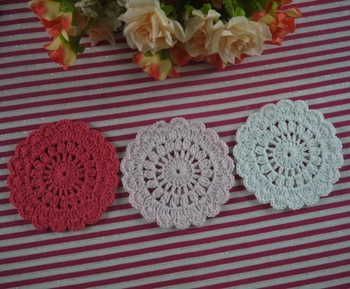 EMS Free Shipping Wholesale Black crochet doilies table mat coaster placemats for table Retro coasters 500PCS/LOT Custom Colors