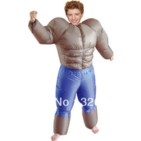 Free Shipping fitness man Inflatable Costume / Adult Fancy Dress Suit for Party Christmas Xmas gift