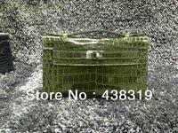 JPG Pochette Crocodile Clutch MIEL palladium+Free shipping
