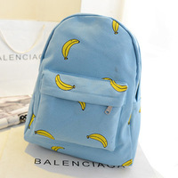 Fresh ice cream ok canvas backpack school bag backpack student bag female male bags