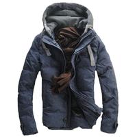 2014 Male Winter Slim Men's Clothing Down Coat Plus Size down coat male 3 Color M-XXXL