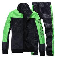 2013 Man Sweatshirts and Pants Sport suit tracksuit men's sportswear Black Blue SIZE M-XXL Free shipping
