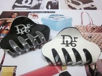 Free shipping 6pcs/lot 8.5cm Big Size Classic Acrylic Rhinestone Hair Claw Clip